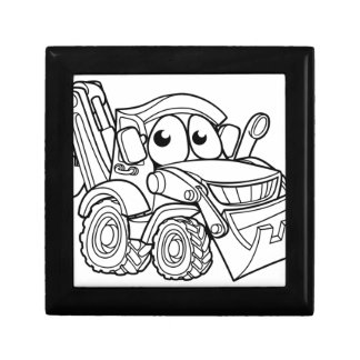 Bulldozer Digger Cartoon Character Gift Box