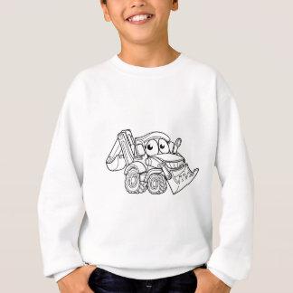 Bulldozer Digger Cartoon Character Sweatshirt