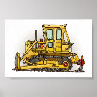 Bulldozer Dozer Poster