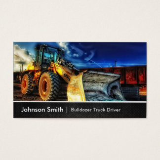 Bulldozer Excavator - Construction Truck Driver Business Card