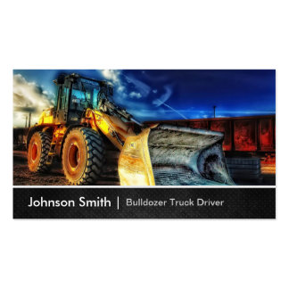 Bulldozer Excavator - Construction Truck Driver Pack Of Standard Business Cards