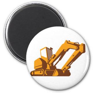bulldozer front retro fridge magnet