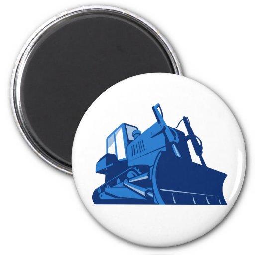 bulldozer front retro magnets