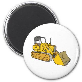 Bulldozer 2 Inch Round Magnet