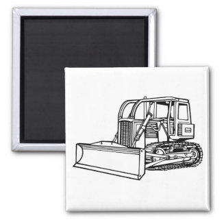 bulldozer square magnet