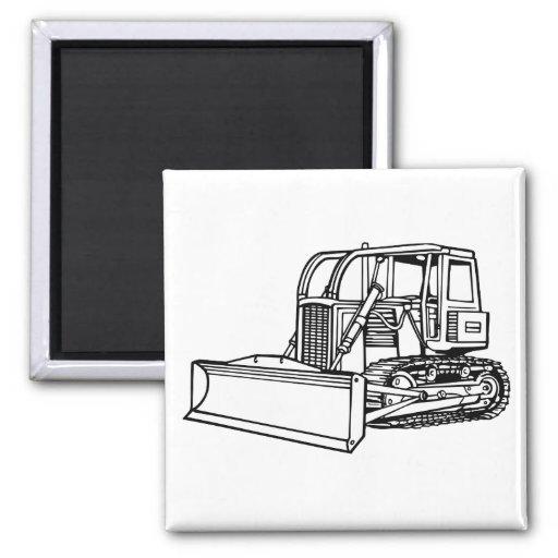 bulldozer fridge magnets