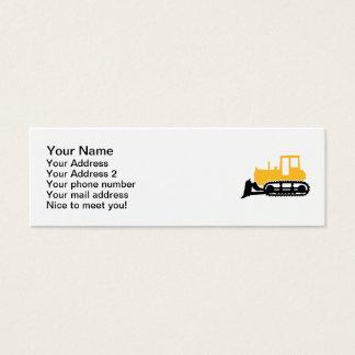 Bulldozer Mini Business Card