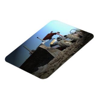 Bulldozer Vinyl Magnet