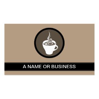 bulle de moka de tasse de café carte de visite standard