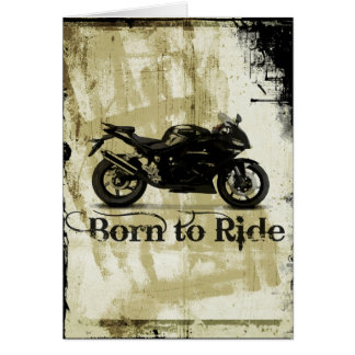 Bullet Bike Sport Motorcycle Birthday Card