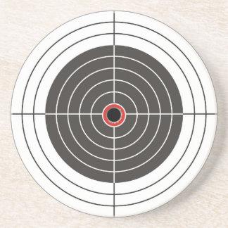 Bullet hole in the target - bull's eye shooting coaster