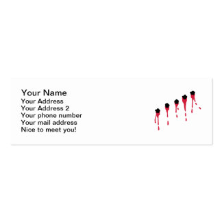 Bullet holes blood business card template