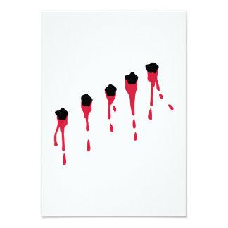 Bullet holes blood card