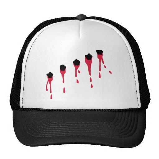 Bullet holes blood mesh hat