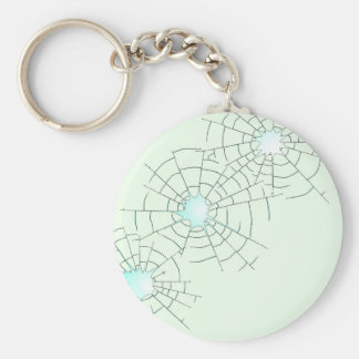 Bullet Holes in Glass Keychain