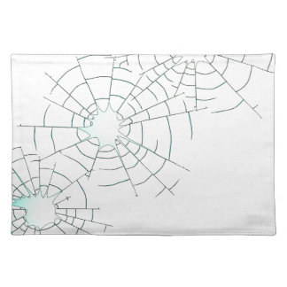 Bullet Holes in Glass Placemat