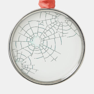 Bullet Holes in Glass Silver-Colored Round Ornament