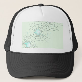 Bullet Holes in Glass Trucker Hat