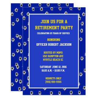 Bullet Holes Police Officer Retirement Invitation