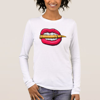 bullet in mouth. long sleeve T-Shirt