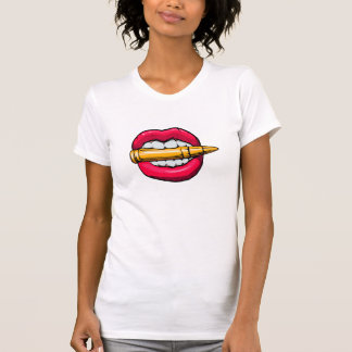 bullet in mouth. T-Shirt