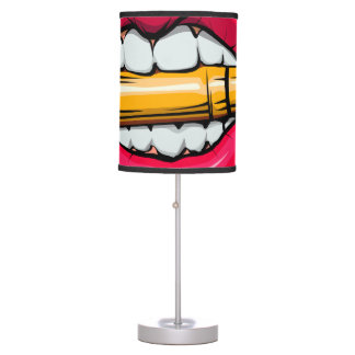 bullet in mouth. table lamp