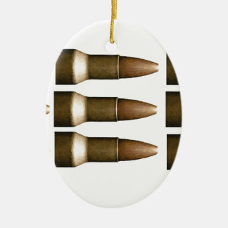 bullet rows yeah ceramic oval ornament