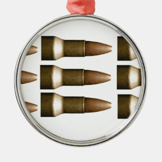 bullet rows yeah Silver-Colored round ornament