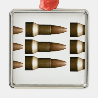 bullet rows yeah Silver-Colored square ornament