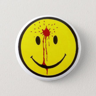 Bullet Smiley Face 2 Inch Round Button