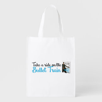 Bullet Whiskey Take a Ride Reusable Grocery Bag