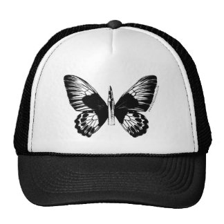 Bullet with Butterfly Wings Trucker Hat