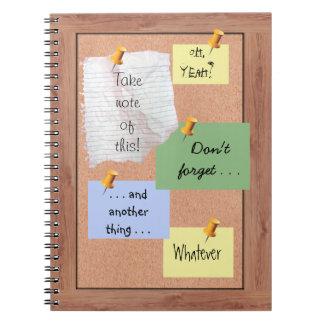 Bulletin Board with Customizable Memos Notebook