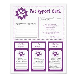 Bulletins d'animal familier tract personnalisé