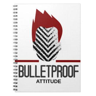 bulletproof attitude spiral note book