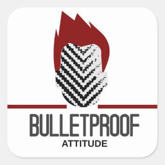 bulletproof attitude square sticker
