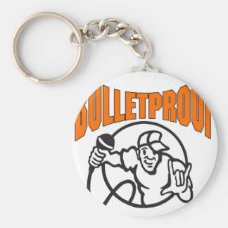 Bulletproof Logo Basic Round Button Keychain