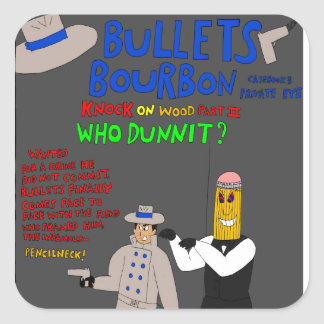 Bullets Bourbon Issue #3 cover stickers! Square Sticker