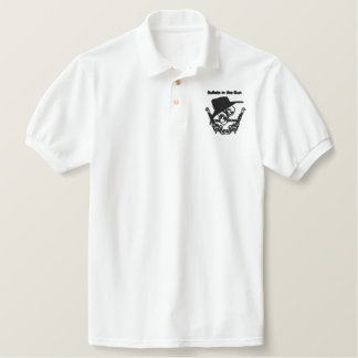 Bullets in the Gun Ute Club Embroidered White Polo