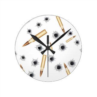 BULLETSNBULLETHOLES.png Round Clocks