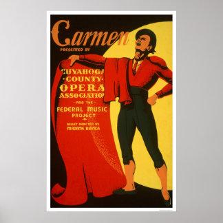 Bullfighter Carmen 1939 WPA Poster