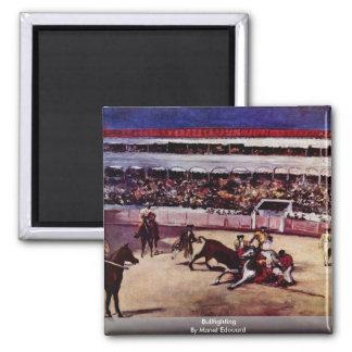 Bullfighting By Manet Edouard Refrigerator Magnet