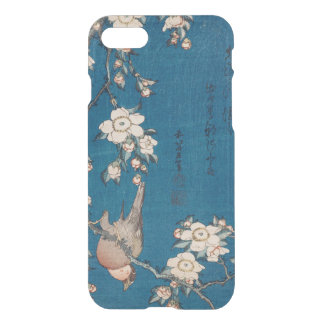 Bullfinch on a Weeping Cherry Branch by Hokusai iPhone 8/7 Case