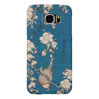 Bullfinch on a Weeping Cherry Branch by Hokusai Samsung Galaxy S6 Cases