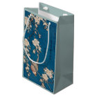 Bullfinch on a Weeping Cherry Branch by Hokusai Small Gift Bag