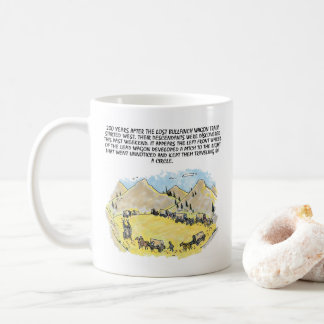 Bullfinch Wagon Train right hand cartoon mug