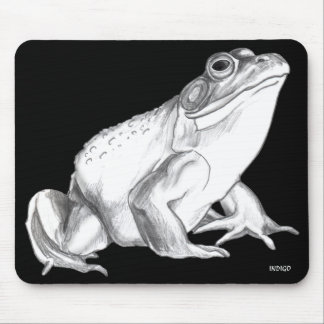 Bullfrog Art Mousepad Frog Art Gifts Decor