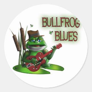 Bullfrog Blues Classic Round Sticker