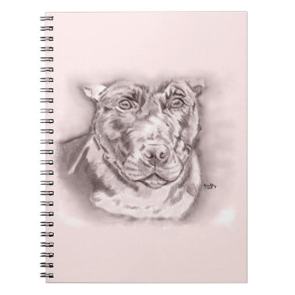 Bullied (Staffordshire Bull Terrier sketch) Spiral Notebook