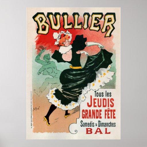 Bullier Vintage Advertising Poster